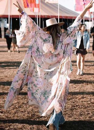 Парео туника кимоно платье  в стиле бохо как у блогеров