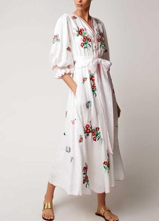 Платье с вышивкой  в стиле бохо как у блогеров