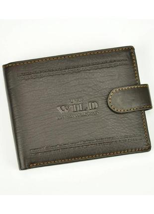 Мужской кожаный кошелек wild n992l-wca