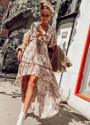 Шикарное платье в стиле бохо как у блогеров