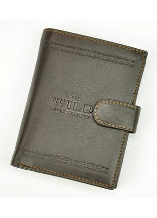 Мужской кожаный кошелек wild n4l-wca