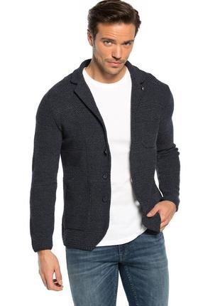 Серо-синий мужской пиджак lc waikiki / лс вайкики на пуговицах
