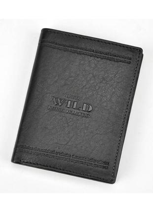 Мужской кожаный кошелек wild n4-wca