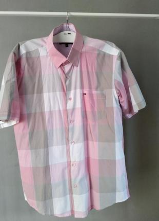 Рубашка tommy hilfiger из натурального хлопка