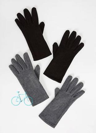 Перчатки флис с сенсорными пальчиками touch screen george англия