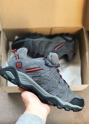 Мужские кроссовки  серые с красным