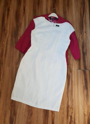 Льняное беленькое платье