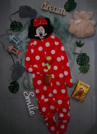 Теплая флисовая пижама кигуруми слип minni №33