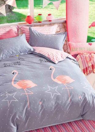 Постельное белье фламинго все размеры