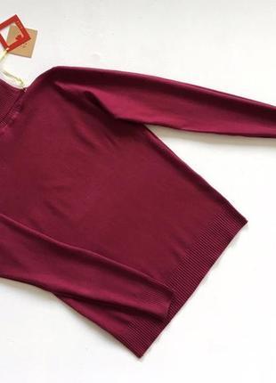 Новый стильный гольф натуральная ткань цвет бордовый размер s-m