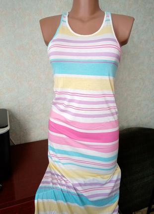Длинная ночнушка или пляжное платье
