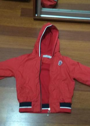 Куртка курточка монклер оригинал осень-весна на 3-5 лет, на флисе