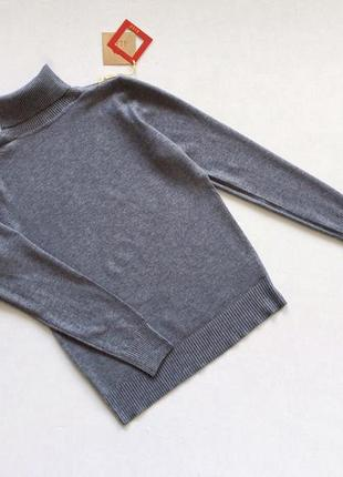 Новый стильный гольф натуральная ткань цвет серый размер s-m