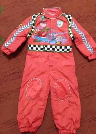 Новый костюм тачки, маккуина, гонщик на 2-3года