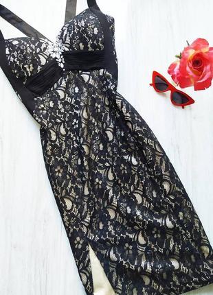 Шикарное чёрное кружевное платье по фигуре 🔥