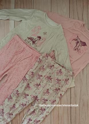 Хлопопковые пижамы пижама george