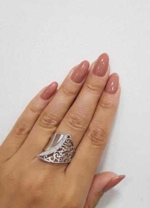 Кольцо серебро 925 тропиканка лк0051