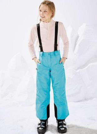 Лыжные штаны подростковые с подтяжками европейское качество