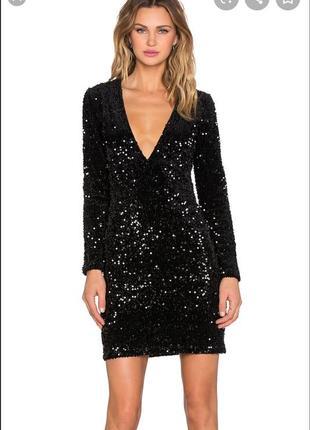 Новое черное платье в пайетках new look💔