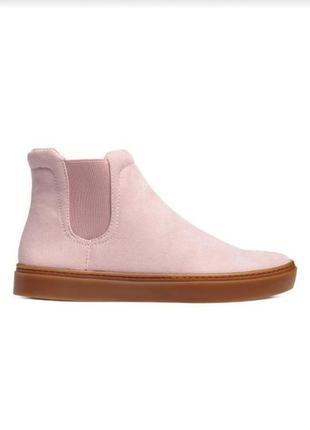 Нежно-розовые челси h&m