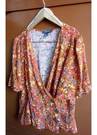 Яркая блуза на запах primark