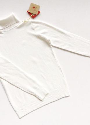 Новый стильный гольф натуральная тканнь цвет белый размер s-m
