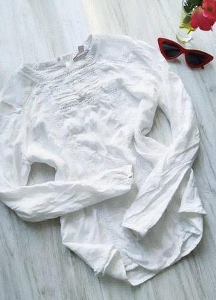 Шикарная белоснежная блуза с вышивкой 😍