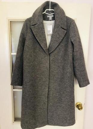 Пальто от h&м премиум, 100% шерсть ❤️❤️❤️