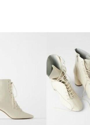 Кожаные ботинки zara оригинал