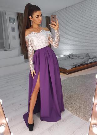 Платье платице голые плечи цвета в ассортименте