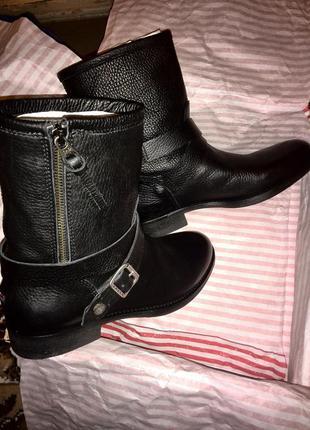 Осенние кожаные ботинки / сапожки / сапоги / деми tommy hilfiger