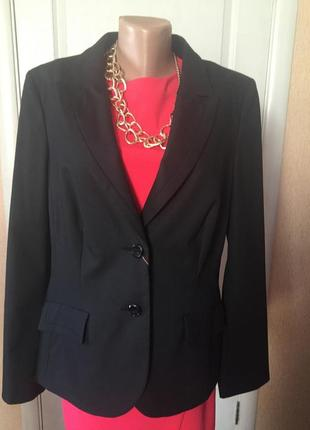 Пиджак женский черный деловой офисный большой размер s.oliver