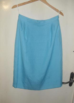 Новый-без бирок,красивый костюм:удлинен.жакет-юбка с карманами,10-14рр.,kasper,тайвань