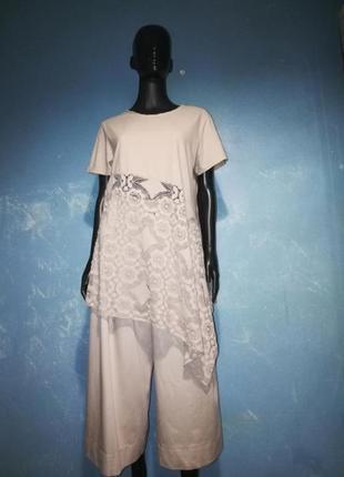 Костюм, комплект, кюлоты, брюки, блуза, футболка, шорты
