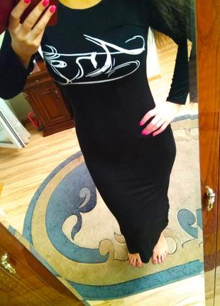 Длинное платье с разрезом angel, размер 10-12