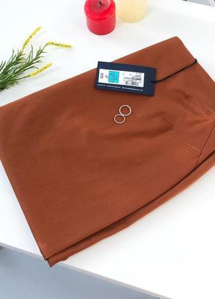 Стильная юбка миди карандаш плотный хлопок marks&spencer