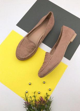Женские туфли балетки под замшу