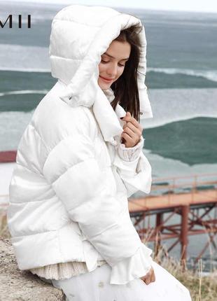 Prettylittlething укороченная белоснежная куртка