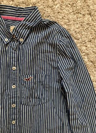 Hollister рубашка в полоску s - размер