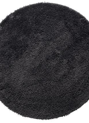 Коврик для ванной , диаметр 70 см , темного серого цвета