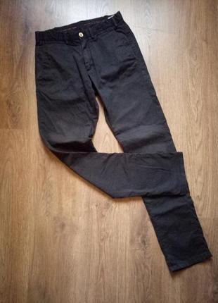 Massimo dutti черные мужские котоновые брюки размер 30 с-м