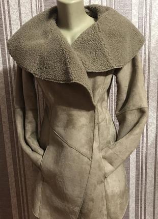 Красивое пальто, кардиган, куртка, плащ, дубленка, эко овчина
