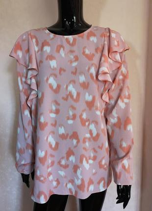 Блуза с воланами nutmeg