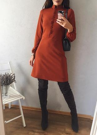 🍁классное осеннее платье на пуговицах 3 цвета