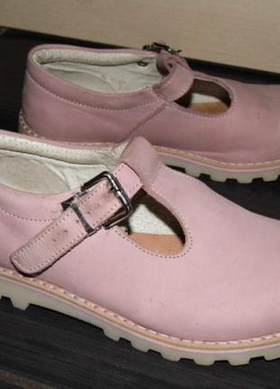 Туфли-нубук -глициния -  kickers eu 33 стелька - 20 см.франция