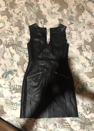 Класне кожане плаття zara