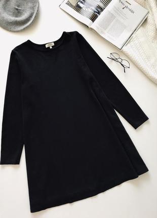 Чёрное платье трапеция/оверсайз/свободного фасона/ платье для беременной