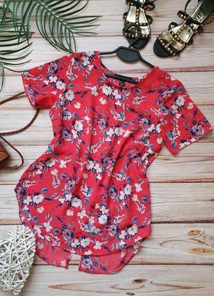 Шифоновая цветочная летняя блуза с голой спиной
