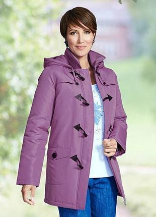 Брендовая утепленная куртка на молнии с капюшоном дафлкот julipa синтепон этикетка