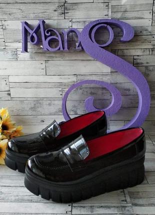 Туфли женские лак кожа marsel
